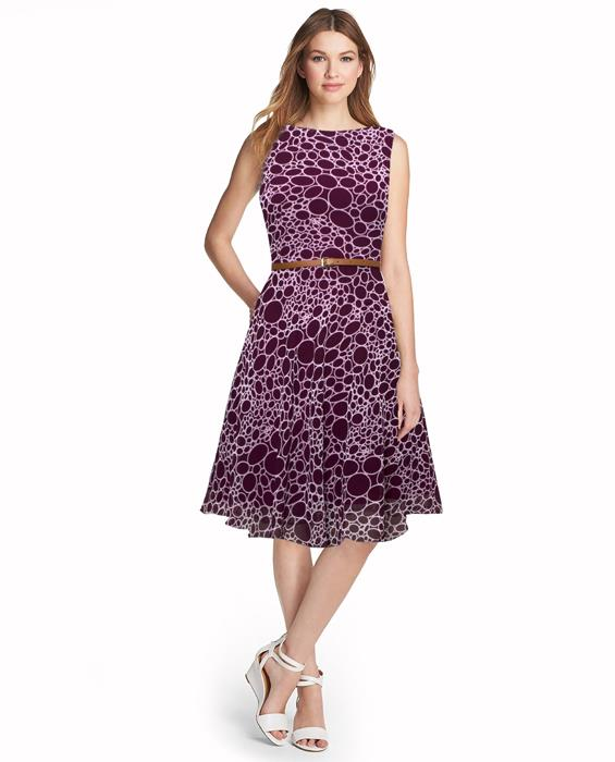 Stone Designer Purple Dress Zyla Fashion