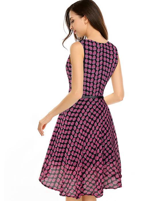 Strawberry Designer Pink Dress Zyla Fashion