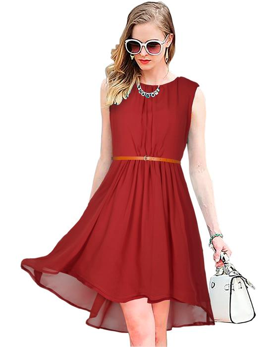Sydney Designer Maroon Dress Zyla Fashion