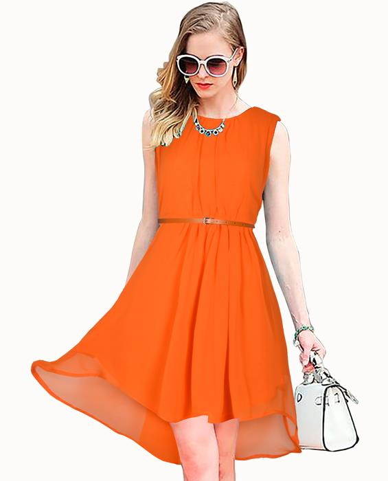 Sydney Designer Orange Dress Zyla Fashion