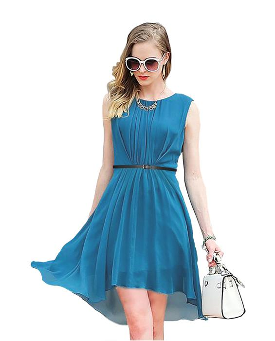 Sydney Designer Steel Blue Dress Zyla Fashion