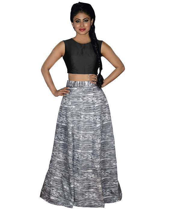 Tapti Black Designer Lahenga Zyla Fashion
