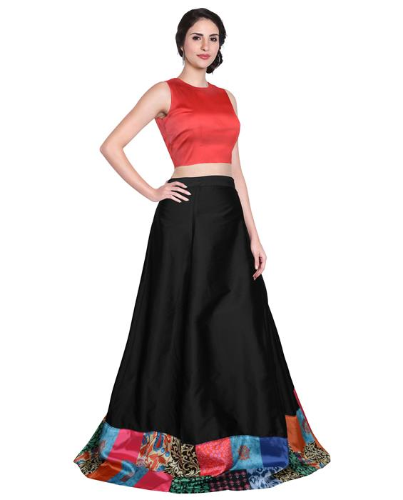 Udan Designer Black Lahenga Zyla Fashion