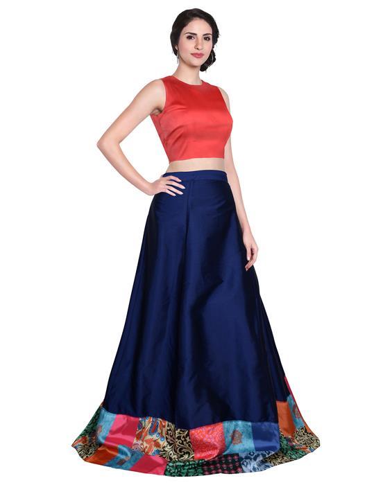 Udan Designer Blue Lahenga Zyla Fashion