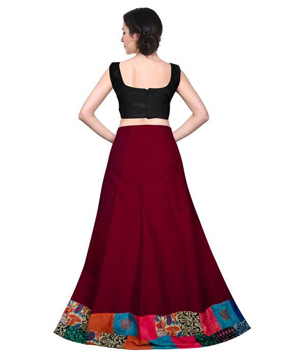 Udan Designer Maroon Lahenga Zyla Fashion