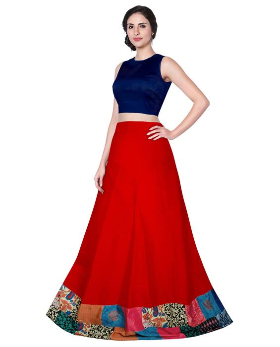 Udan Designer Red Lahenga Zyla Fashion