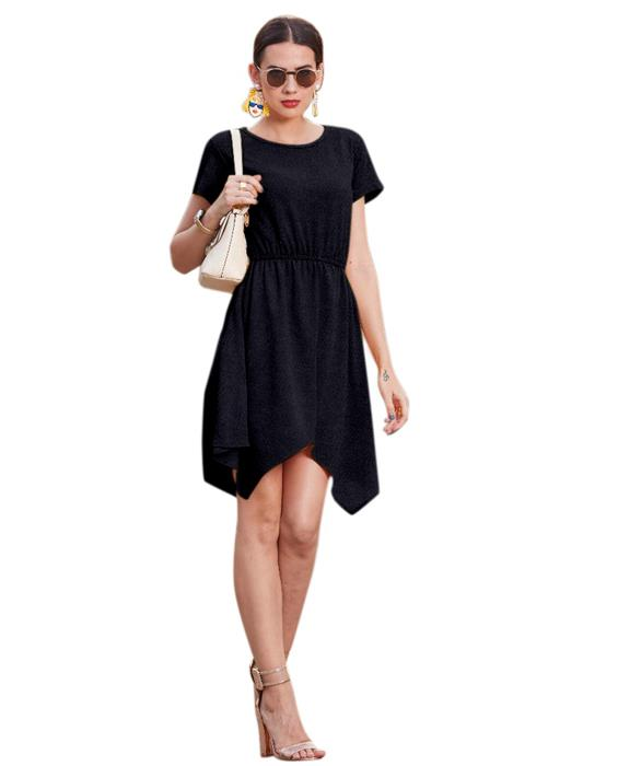 Vagas Designer Black Dress Zyla Fashion
