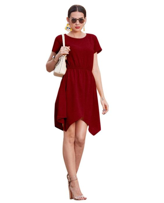 Vagas Designer Maroon Dress Zyla Fashion