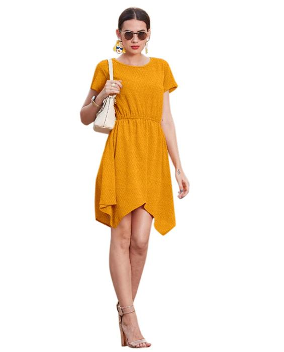 Vagas Designer Yellow Dress Zyla Fashion