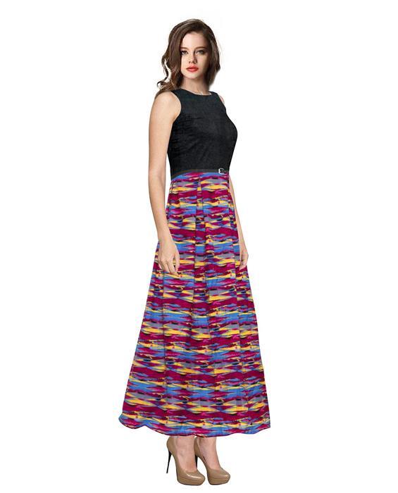 Vista Pink Designer Gown Zyla Fashion