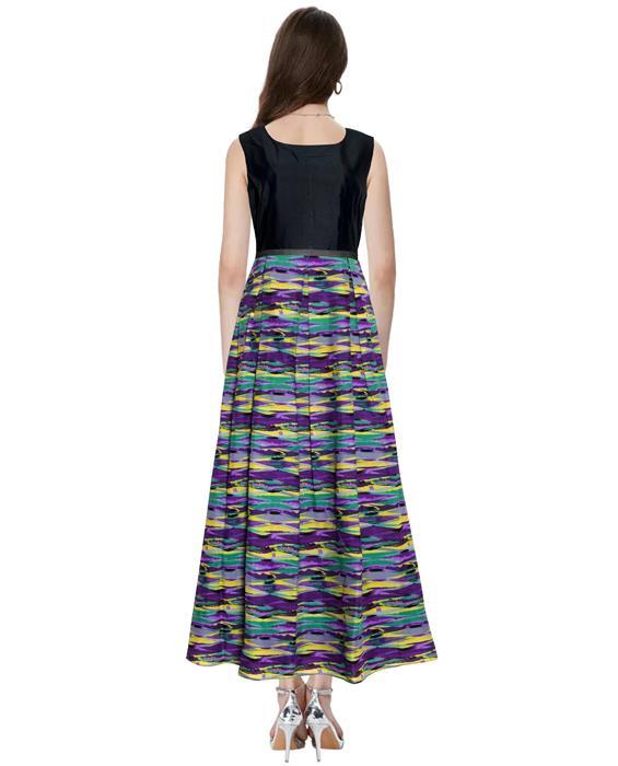 Vista Purple Designer Gown Zyla Fashion