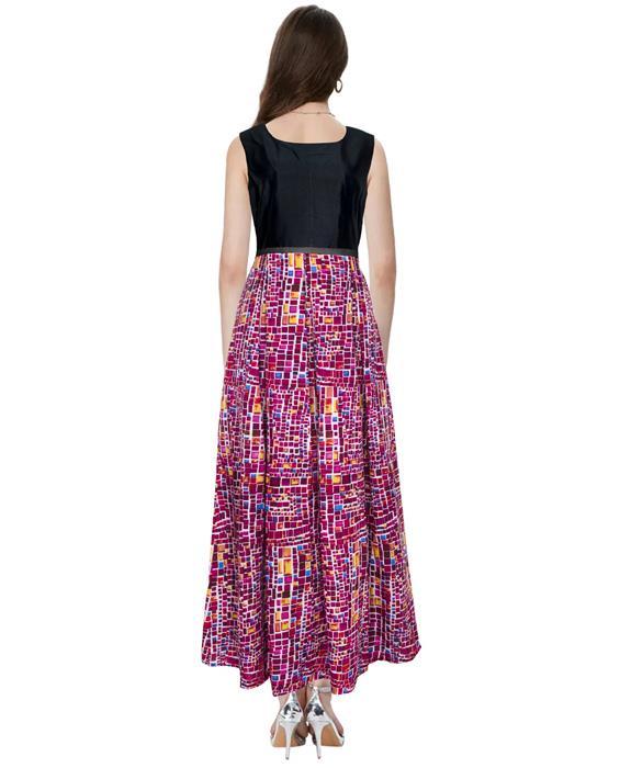 Vista Square Hot Pink Designer Gown Zyla Fashion