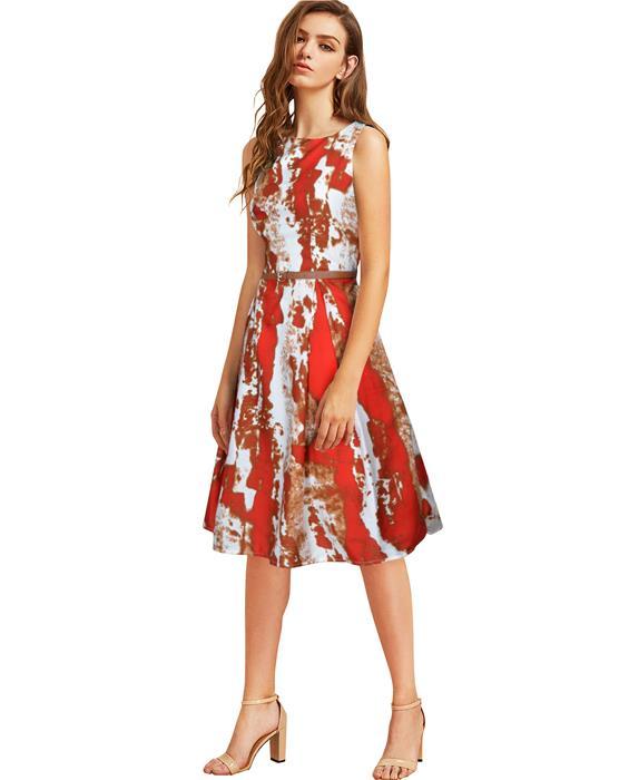 Vivo Designer Red Dress Zyla Fashion