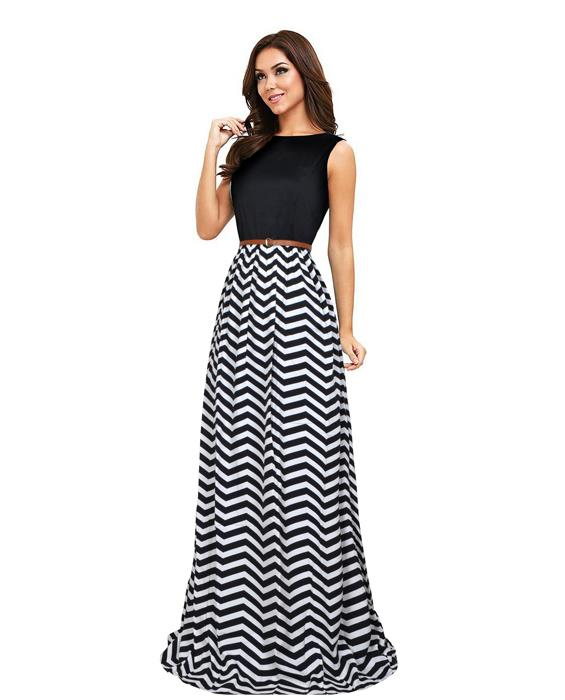 Zigzag Designer Black Gown Zyla Fashion
