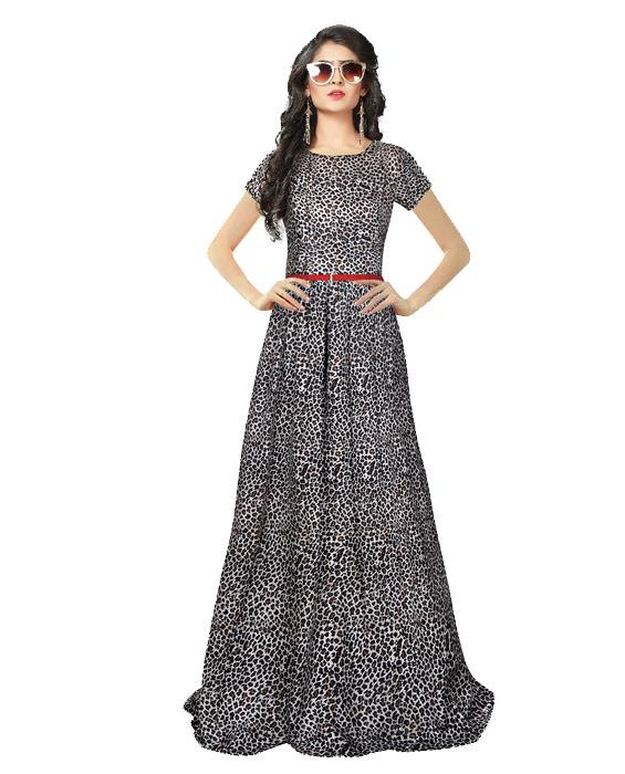 Zorba Black Exclusive Designer Gown Zyla Fashion