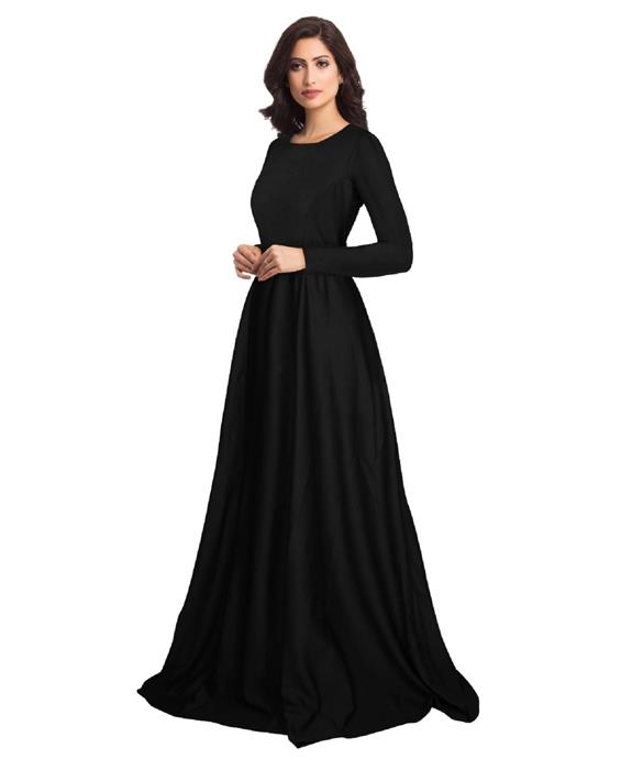 Zorba Exclusive Designer Black Gown Zyla Fashion