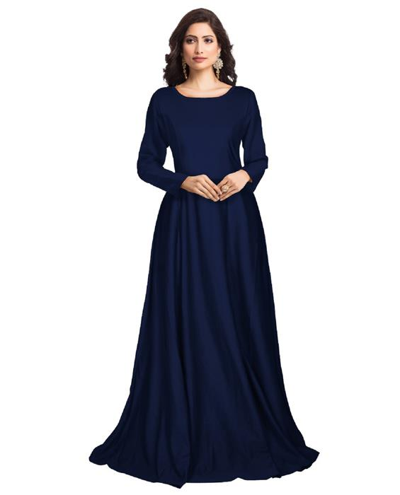 Zorba Exclusive Designer Blue Gown Zyla Fashion
