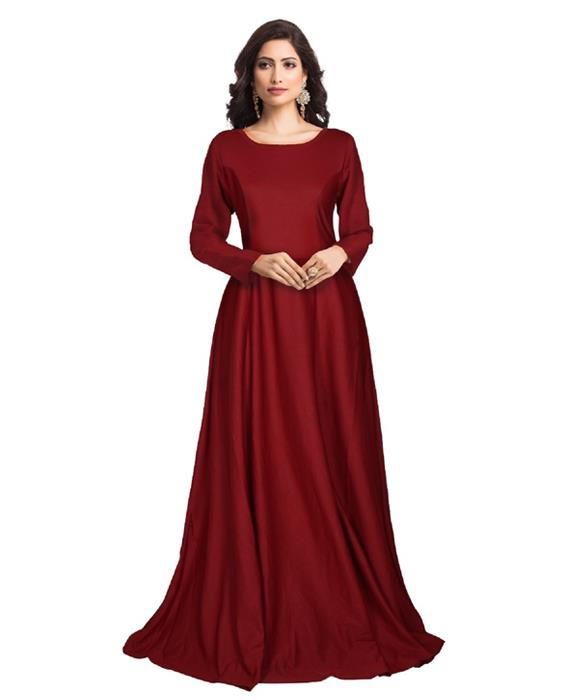 Zorba Exclusive Designer Maroon Gown Zyla Fashion